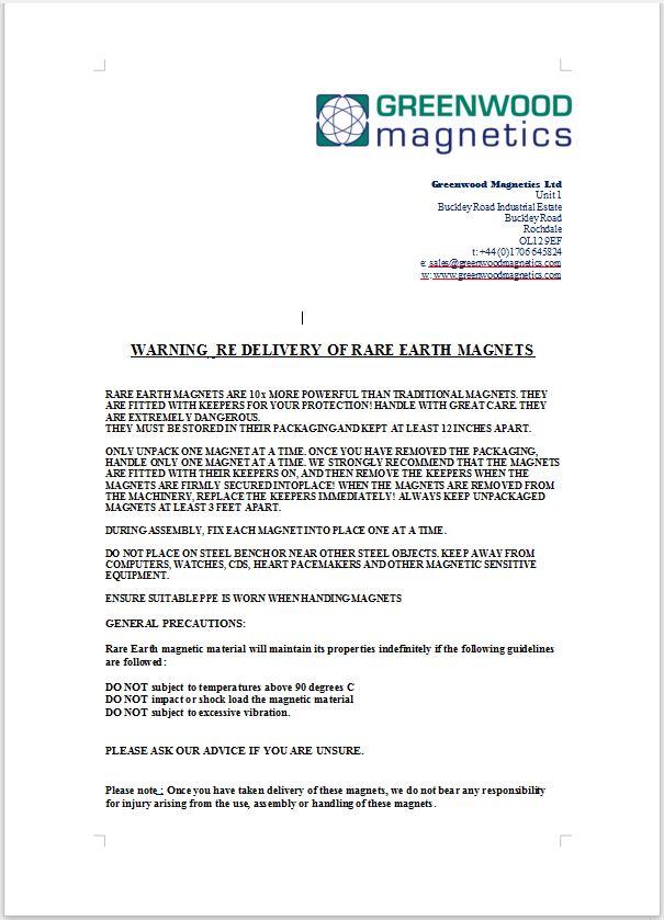 Rare earth magnet care